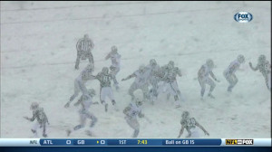 Screen Capture of the Snow Bowl :: Courtesy Deadspin